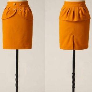 Anthropologie/ leifsdottir honeyed peplum skirt
